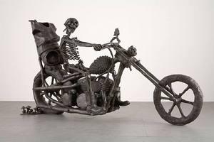 """Liz Craft, """"Death Rider (Virgo)"""", bronze, 56 x 107.9 x 31.9 inches"""