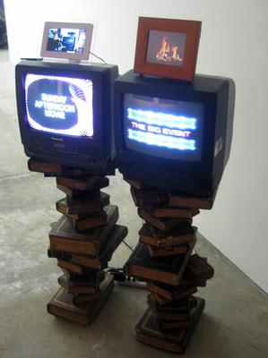 Brian Belott, installation view of Swirly Music