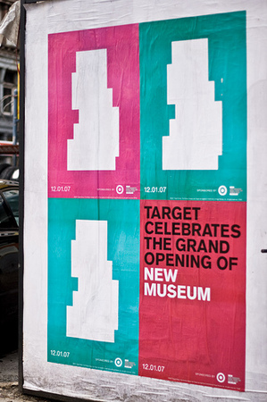 New Museum posters, street view, December 2007