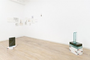 Walead Beshty and Roman Ondak at Wallspace Gallery, installation view.