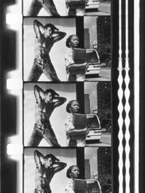 """Abigail Child, still image from """"B Side"""", color and silent film in 16mm"""