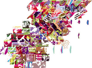 "LoVid, ""Memory Weave"", 2006, Iris print, 44"" X 60"""