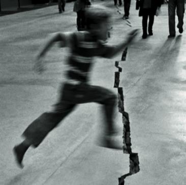 """Cracks in the Edifice,"" detail of Left Forum 2008 Brochure"