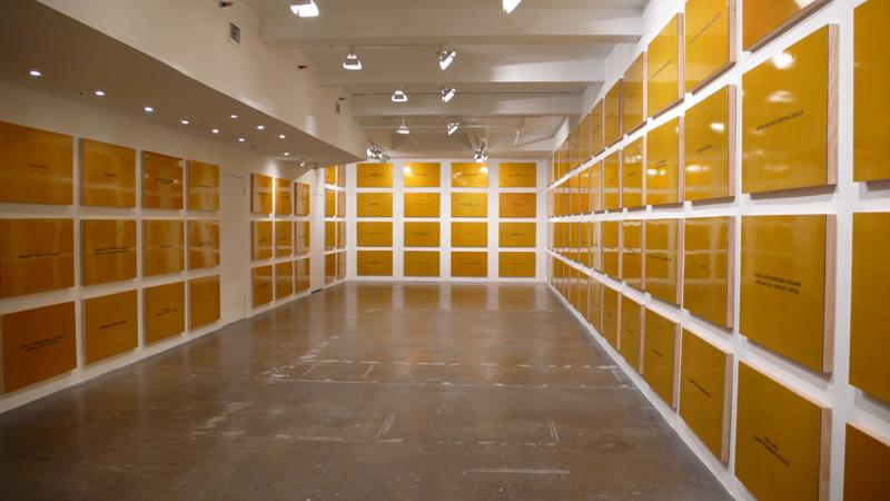 "Daniel Joseph Martinez, ""Divine Violence"", 2007, installation view, The Project, New York."