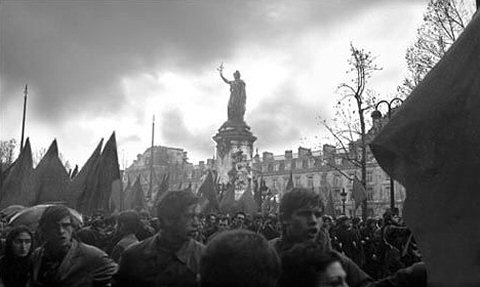 "Alain Quemper, ""Manifestation Place de la République,"" 1968, photographic print dimensions unknown."