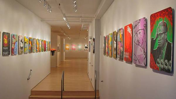 Installation view of exhibition.
