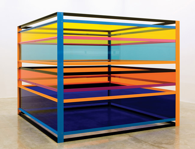 "Liam Gillick, ""Sometimes They Worked in Groups of Three,"" 2008. Via Casey Kaplan Gallery."
