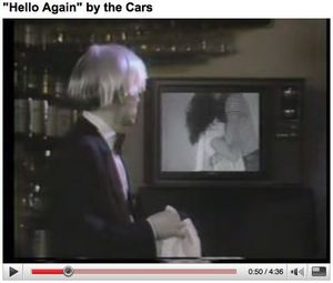 "The Cars, ""Hello Again"", 1984, still image from video formatted for YouTube."
