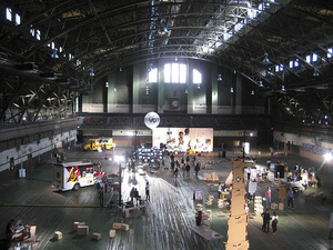 Installation view of exhibition at the Park Avenue Armory. Via jeangenetramsey's flickr stream.
