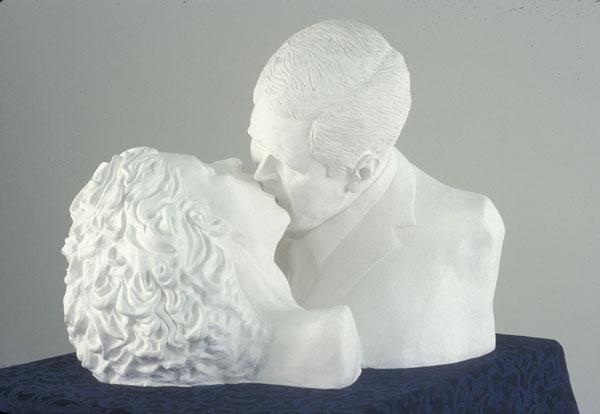 "Photo: Rachel Mason, ""Kissing President Bush,"" 2004"