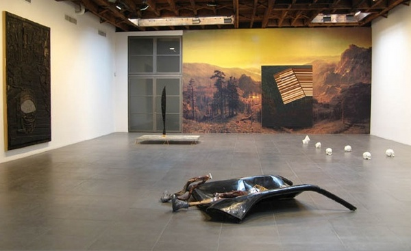 "Matthew Day Jackson, ""Terranaut"" installation view. Via Peter Blum Gallery."
