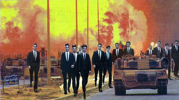 "Martha Rosler, ""Invasion"", 2008, photomontage."