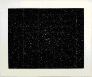 "Vija Clemins, ""Strata"", 1982, one color mezzotint, courtesy McKee Gallery, New York."