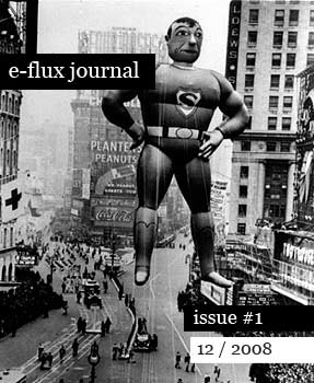 """E-flux Journal #1, """"cover"""" image reproduced with announcement"""
