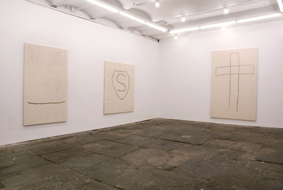 "Installation view, ""Schmagoo Paintings"" at CANADA galley."