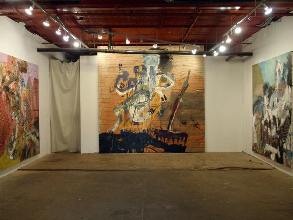Andy Piedilato at English Kills Gallery, 2009, installation view.
