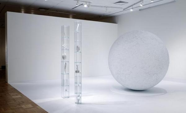 "Terence Koh, ""Raven Sits on Snowman Thinking of Earth From the moon"", 2008, mixed media installation"