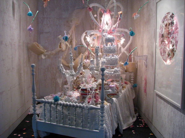 "Vadis Turner, ""Reception,"" installation at Pulse. Via C-Monster's flickr stream."