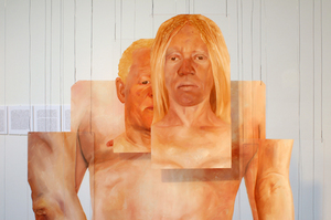 Meleko Mokgosi, The Ruse of Transparency II (detail), 2009, oil on PMMA, dimensions variable.