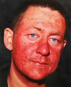 Matthew Watson, Untitled Portrait, 2009, oil on copper, 9 x 11 in. Courtesy of WORK Gallery.
