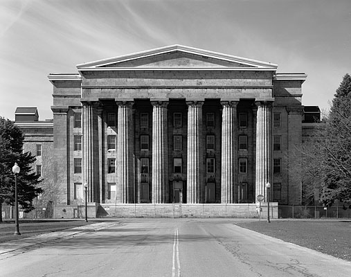 "Christopher Payne, ""Asylum Exteriors, Utica State Hospital,"" date unknown, photograph."