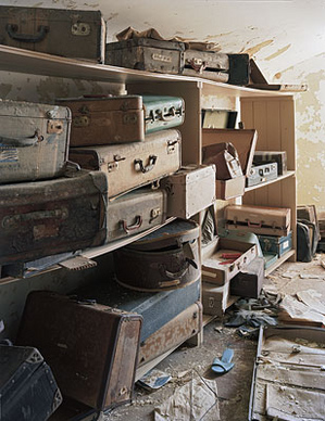 "Christopher Payne, ""Patient Suitcases, Bolivar SH, TN,"" 2008, photograph, dimensions unknown."